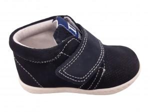 Pantofi sport băieți bleumarin din piele naturală întoarsă