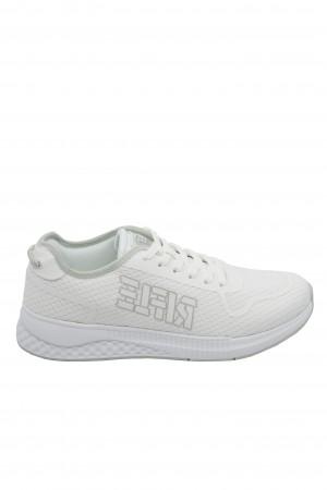 Pantofi sport albi bărbați, Clay from Rifle