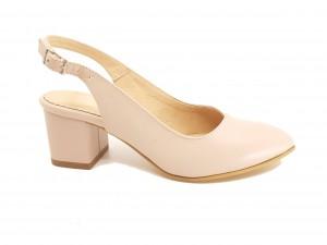 Pantofi damă decupați la spate, din piele naturală