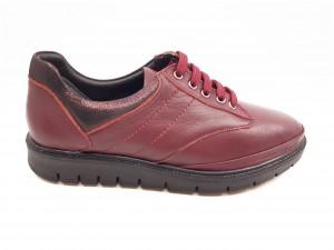 Pantofi damă bordo din piele naturală