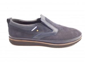 Pantofi casual bărbați piele întoarsă bleumarin