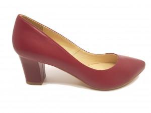 Pantofi damă office bordo din piele naturală
