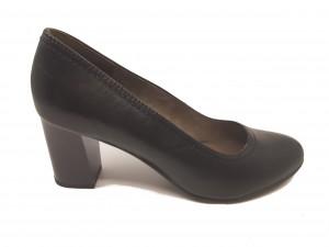 Pantofi negri office din piele naturală