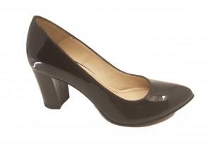 Pantofi eleganți negri din lac
