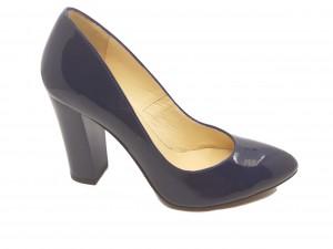 Pantofi eleganți bleumarin din lac