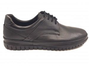 Pantofi casual negri din piele naturală In Tempo