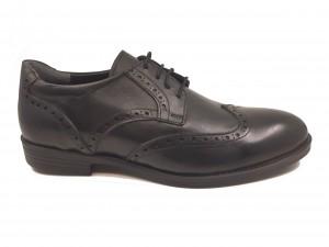 Pantofi eleganți negri din piele naturală In Tempo