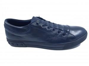 Pantofi sport bleumarin bărbați din piele naturală