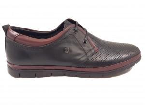 Pantofi casual bărbați din piele naturală negri In Tempo