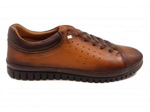 Pantofi sport maro bărbați din piele naturală In Tempo