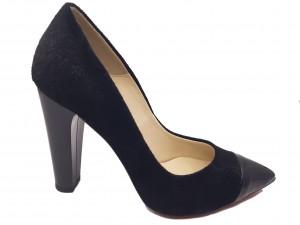 Pantofi damă eleganți negri din piele naturală