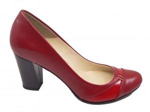 Pantofi damă office roșii din piele naturală