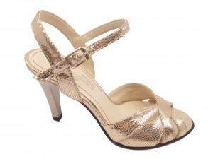 Sandale elegante aurii din piele naturală