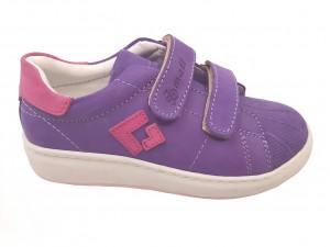 Pantofi sport fete mov din piele întoarsă