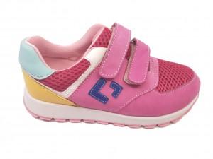 Pantofi sport fete roz din piele întoarsă
