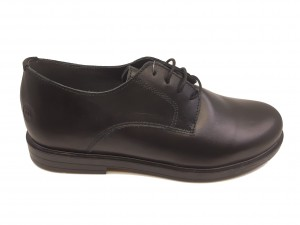 Pantofi băieți negru clasic din piele naturală