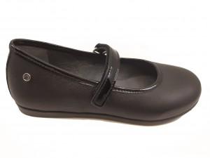 Pantofi fete negri din piele naturală