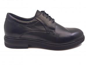 Pantofi eleganți negru box din piele naturală