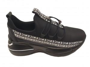 Pantofi sport damă negri cu talpa voluminoasă
