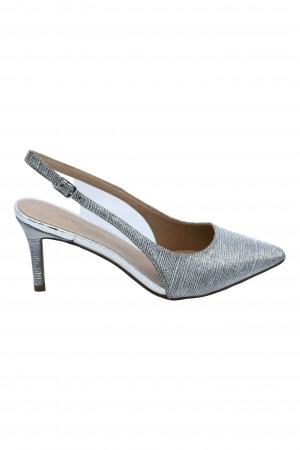 Pantofi damă decupați argintii eleganți