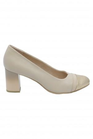 Pantofi damă office nude din piele naturală
