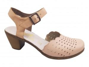 Pantofi damă casual decupați roz pal
