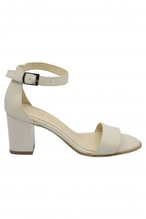Sandale elegante bej din piele naturală