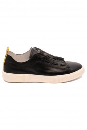 Pantofi sport negri bărbați din piele naturală