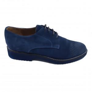 Pantofi bărbați bleumarin din piele întoarsă-39