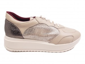Pantofi sport Brigitte bej din piele naturală