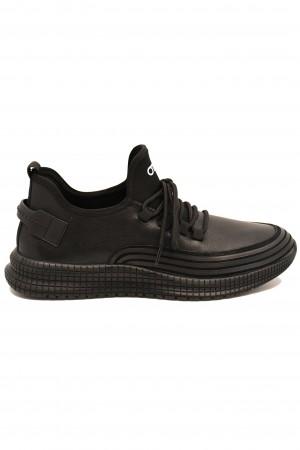 Pantofi sport Otter negri din piele naturală