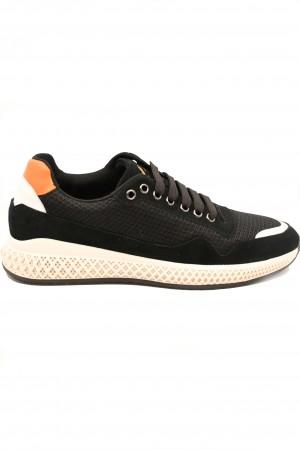 Pantofi sport negri bărbați din material textil