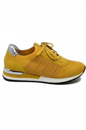 Pantofi sport damă galbeni, din material textil