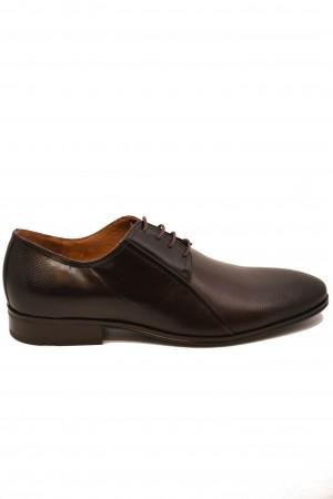 Pantofi eleganți mahon din piele naturală