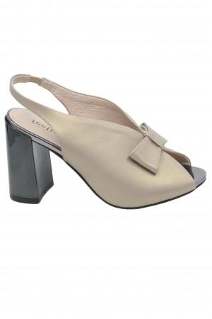 Sandale elegante roz pal din piele naturală