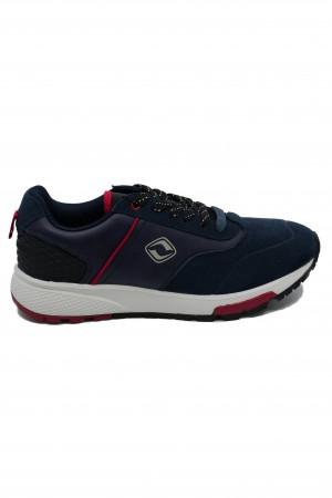 Pantofi sport bărbați bleumarin din piele întoarsă