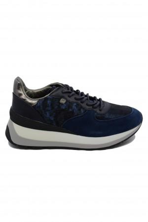 Pantofi sport damă bleumarin din piele întoarsă