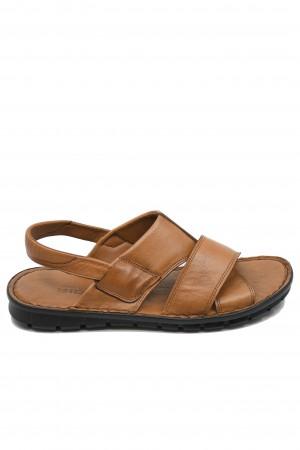 Sandale ușoare pentru bărbați în culoarea tutunului