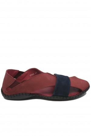Sandale bordo bărbați cu design modern și talpa cusută