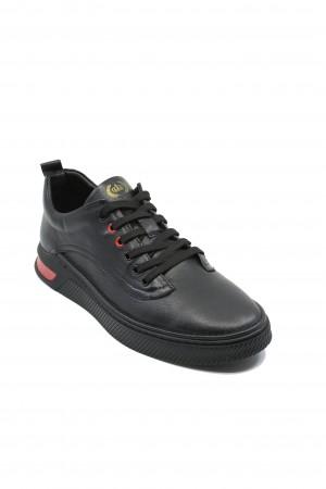 Pantofi sport Franco Gerardo, negri din piele naturală