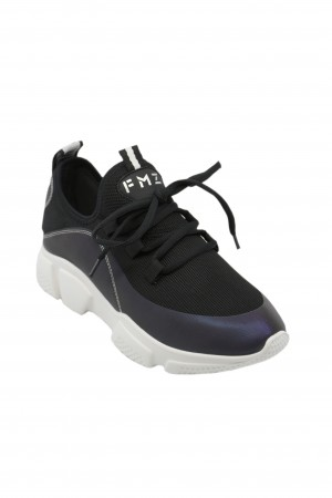 Pantofi sport damă FMZ, negri, din material textil