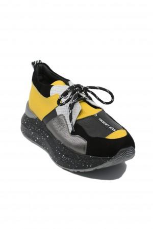 Pantofi sport damă ILI multicolori, din piele naturală
