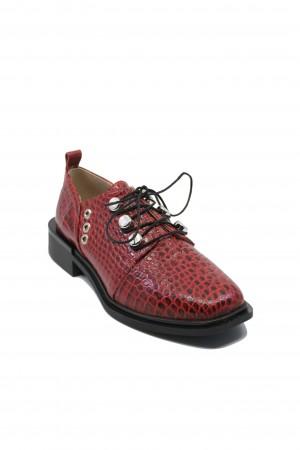 Pantofi damă Karolina roșii din lac