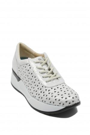 Pantofi damă Plata argintii din piele naturală