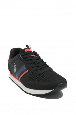 Pantofi sport bărbați negru-roșu, Nobil by US POLO ASSN