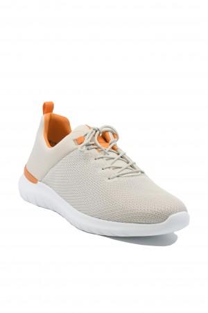 Sneakers damă bej din material textil