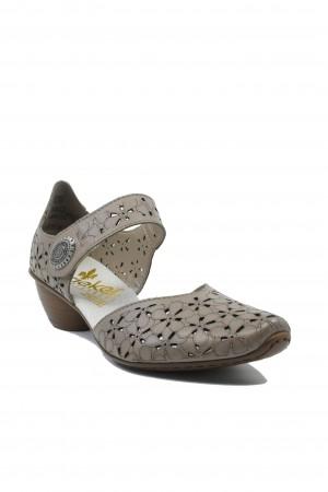 Pantofi damă decupați ultra-ușori bej din piele naturală