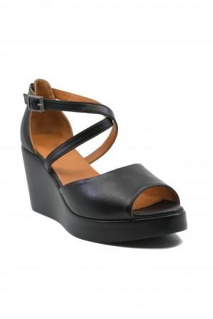 Sandale damă negre cu talpă ortopedică