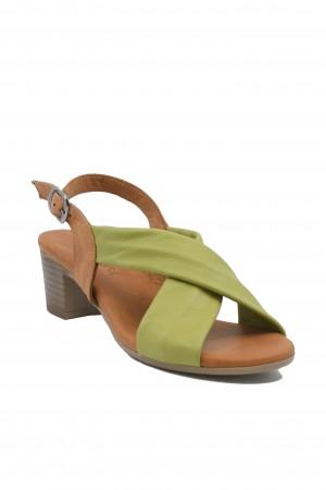 Sandale damă light green din piele naturală
