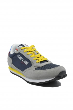 Pantofi sport bărbați Roberto Cavalli gri ciment